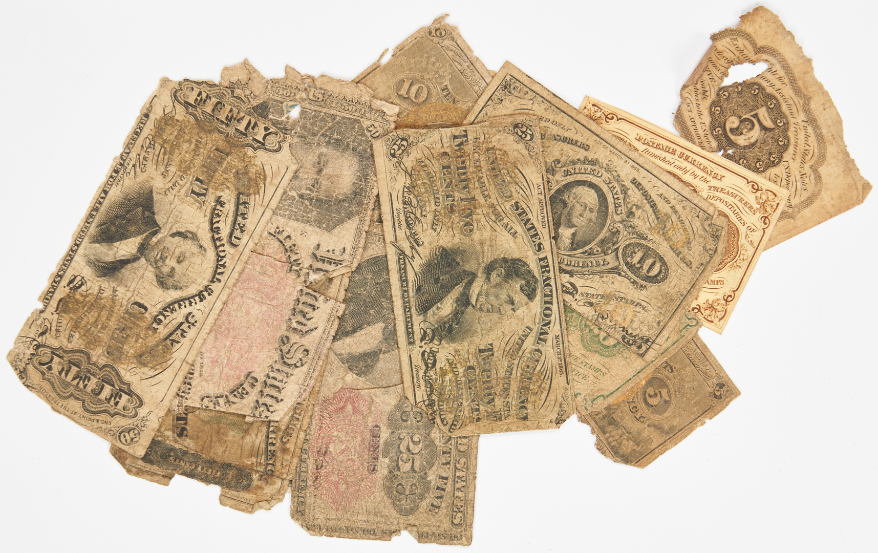 Lot 768: 20 American Notes, incl. Colonial, Silver Certs.