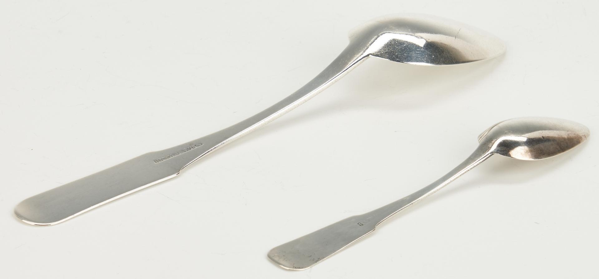 Lot 78: Asa Blanchard Tablespoon & Teaspoon