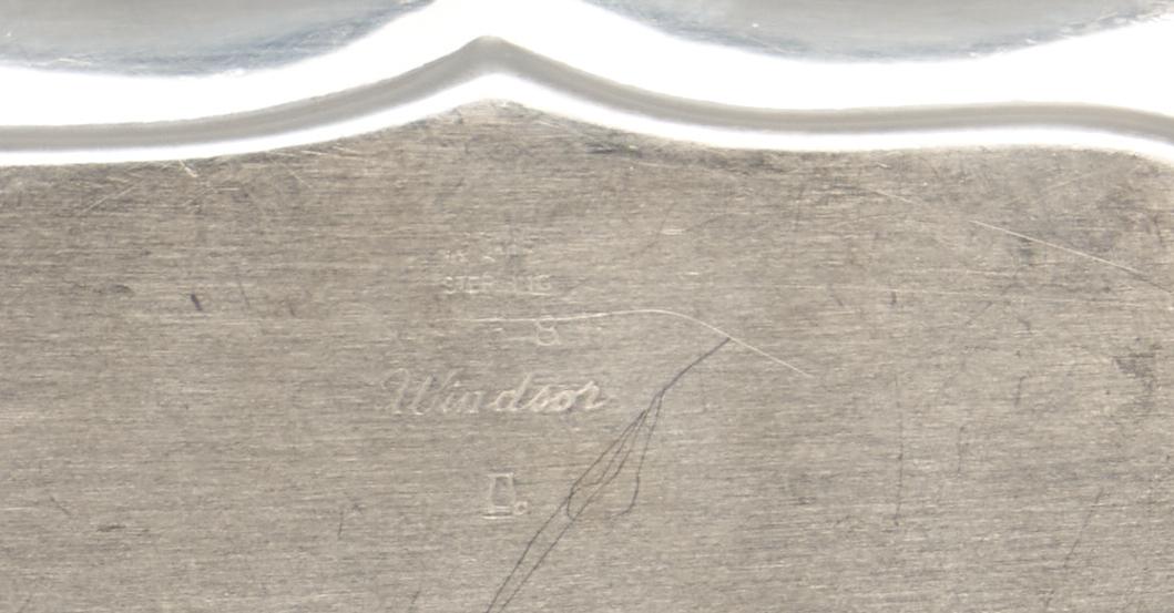 Lot 807: Sterling Pitcher plus Windsor Rectangular dish