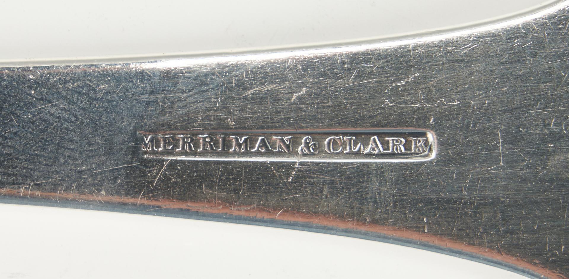 Lot 80: Merriman & Clark Memphis TN Coin Silver Soup Ladle