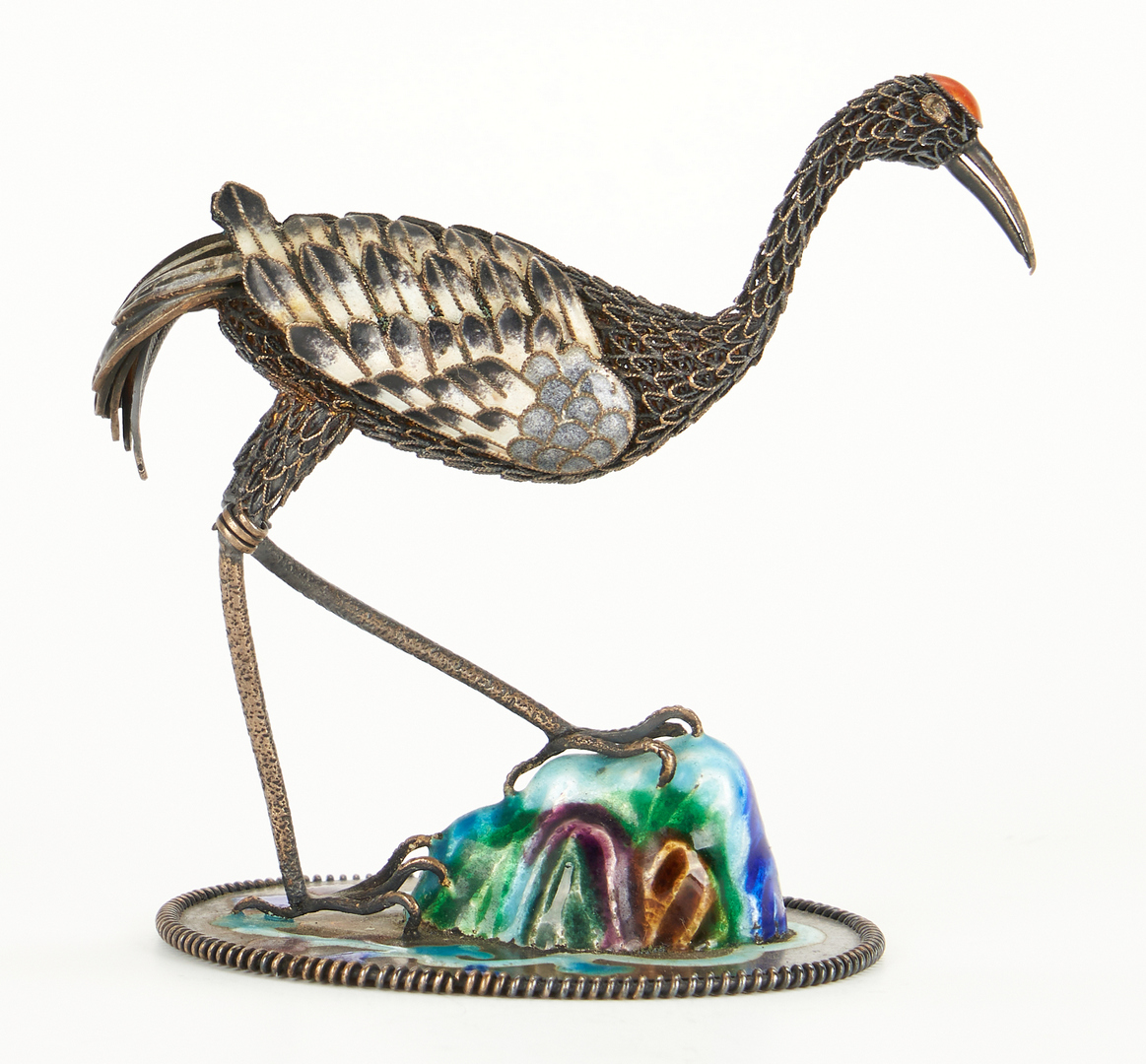 Lot 815: 3 Enameled Miniature Birds, incl. Suhai