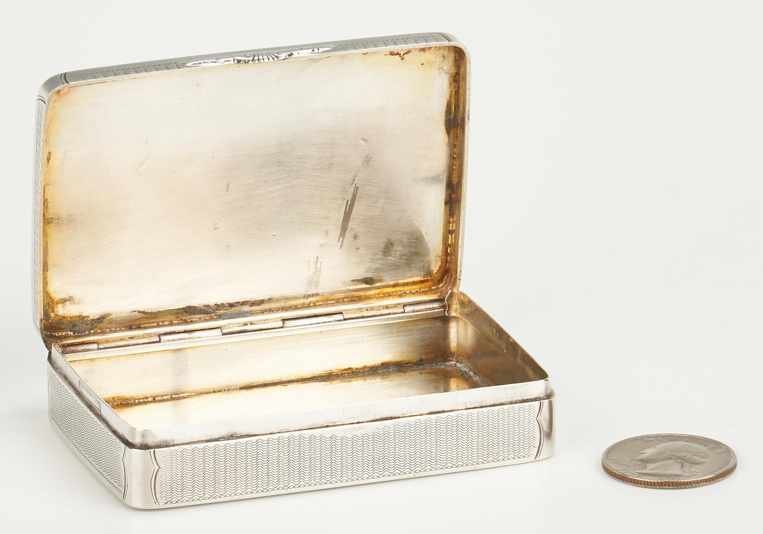 Lot 81: Memphis TN Coin Silver Snuff Box