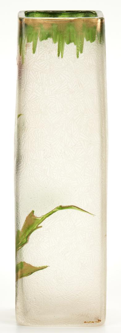 Lot 828: French Art Glass Vase w/ Flowers