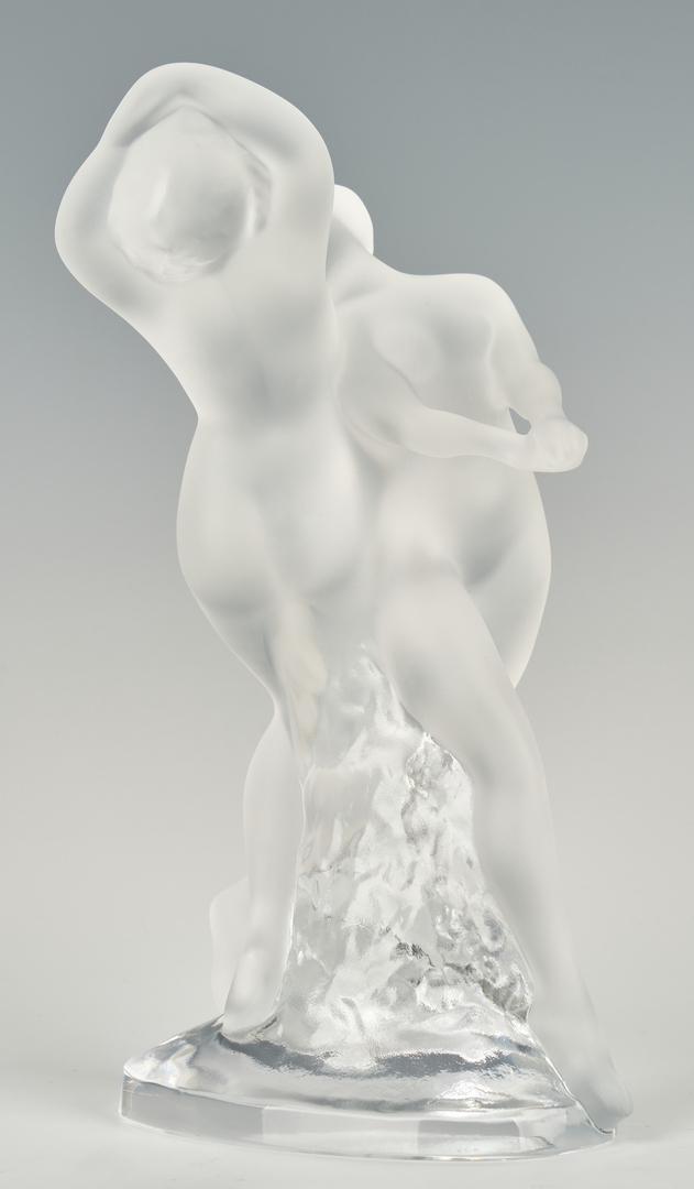 Lot 829: Lalique Deux Danseuses Glass Sculpture