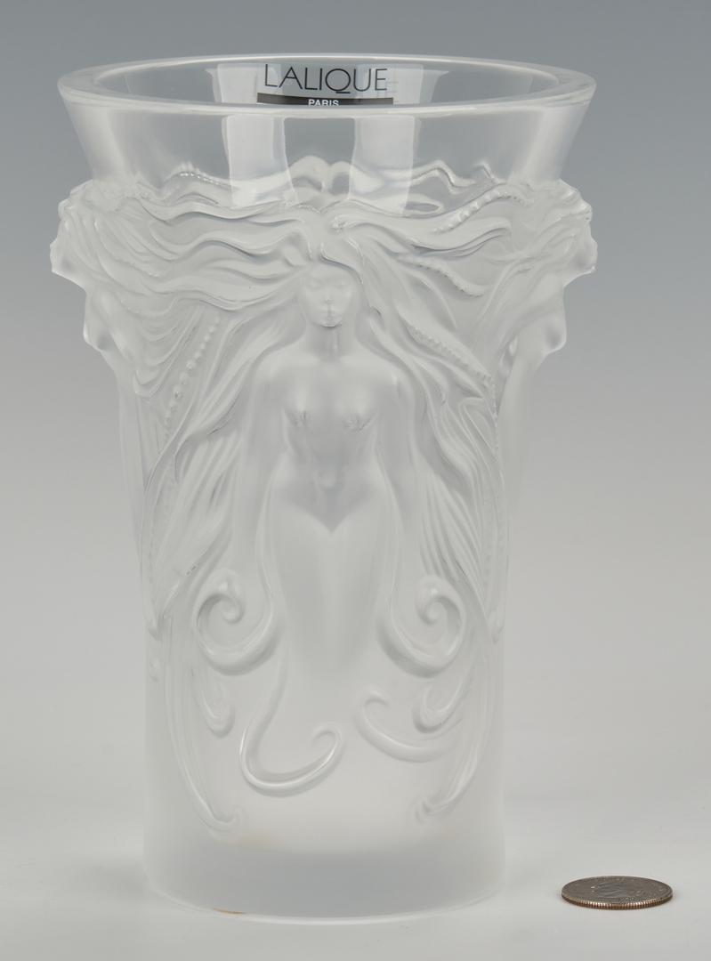 Lot 830: Lalique Nude Female Figural Vase