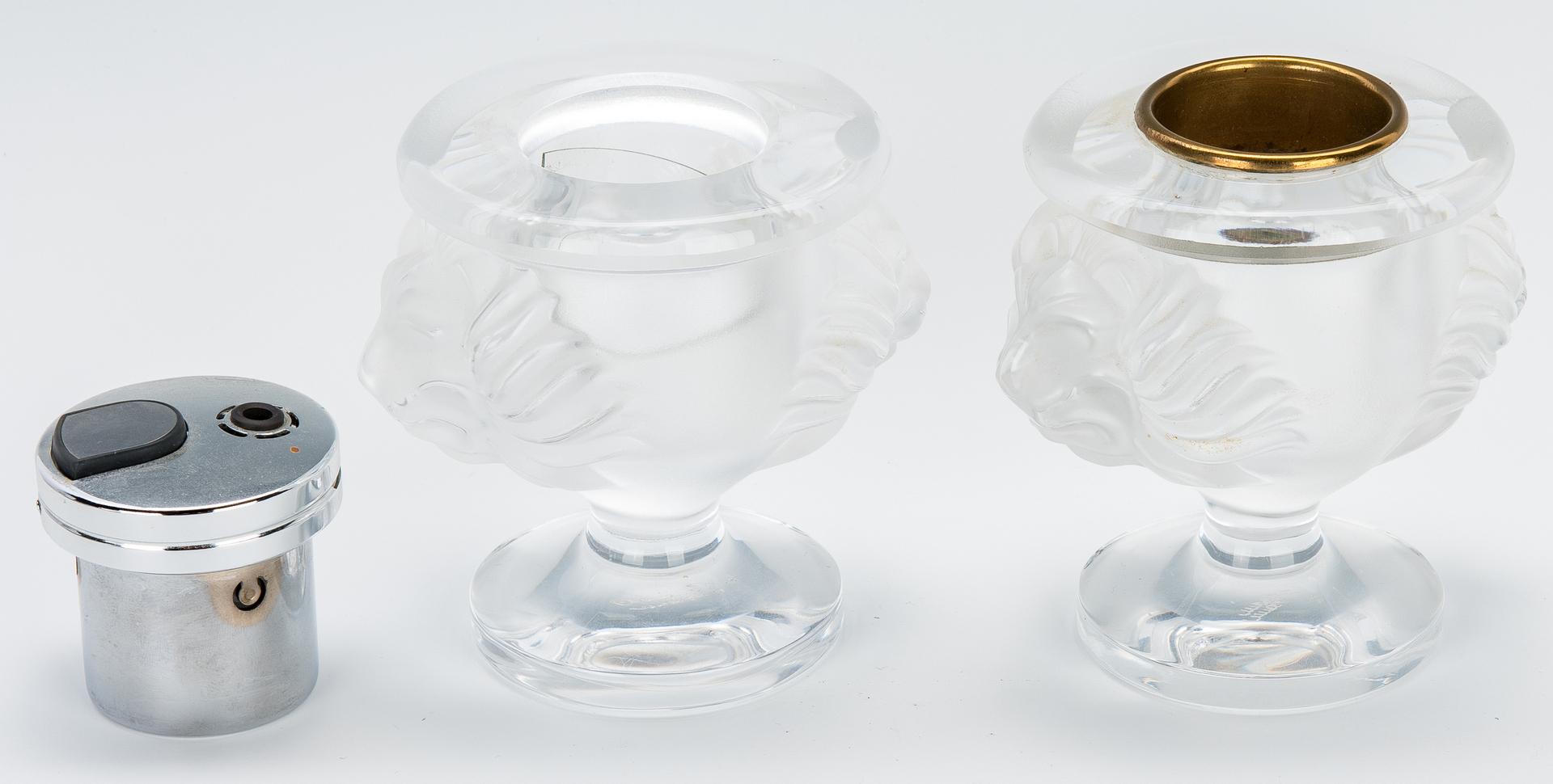 Lot 831: Group of Lalique Glass, 6 pcs. incl. Smoke Set