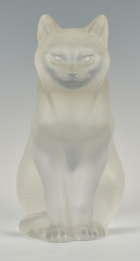 Lot 832: Lalique Crystal Cat Figure