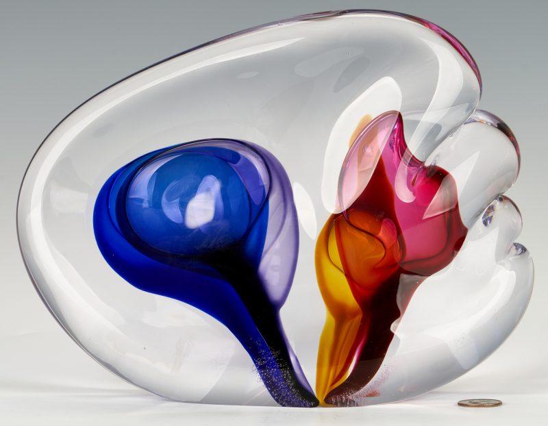 Lot 833: Leon Applebaum Glass Sculpture