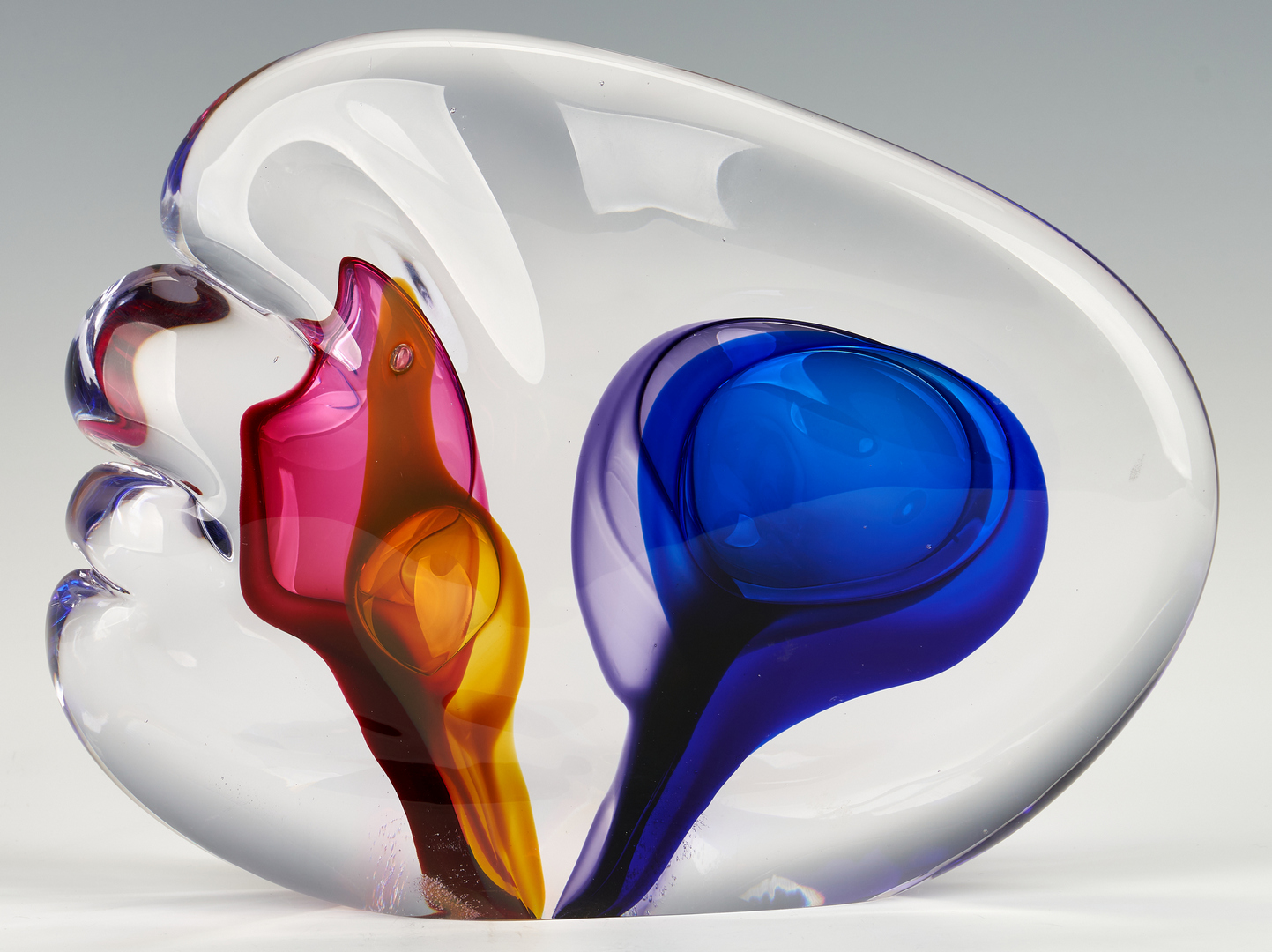Lot 833: Leon Applebaum Glass Sculpture