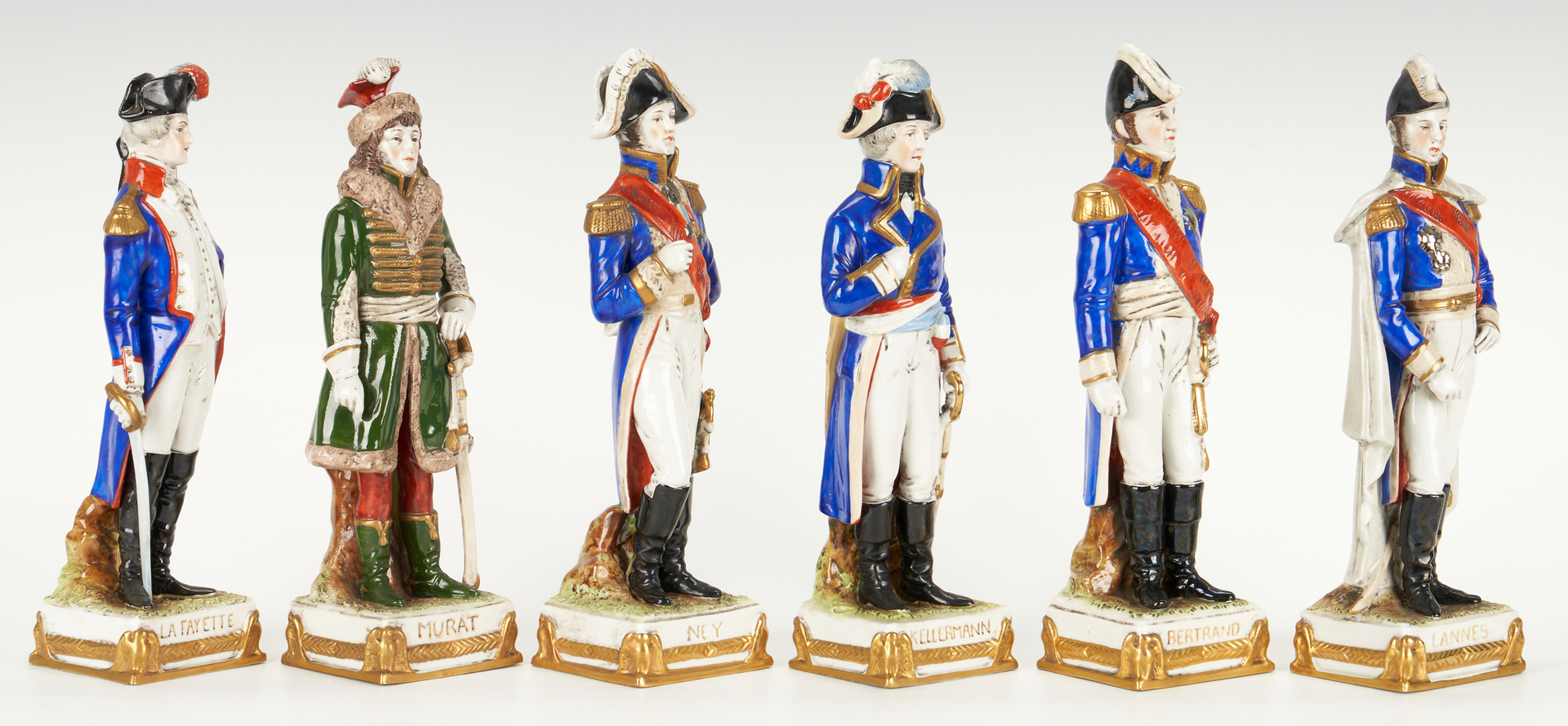 Lot 836: 8 Sitzendorf Napoleonic Figures inc. Napoleon on Horseback