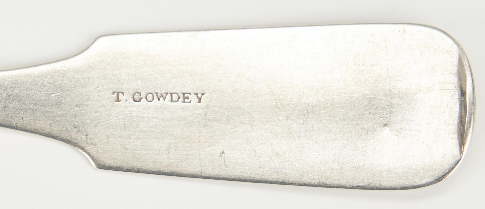 Lot 83: 10 TN Coin Silver Teaspoons, Peabody & Gowdy