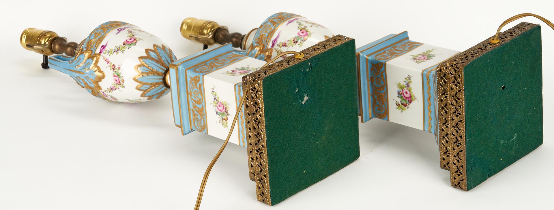 Lot 840: Lamps and decorative porcelain inc. Meissen, 5 items
