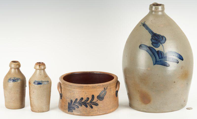 Lot 845: 4 Northeastern Stoneware Pottery Items