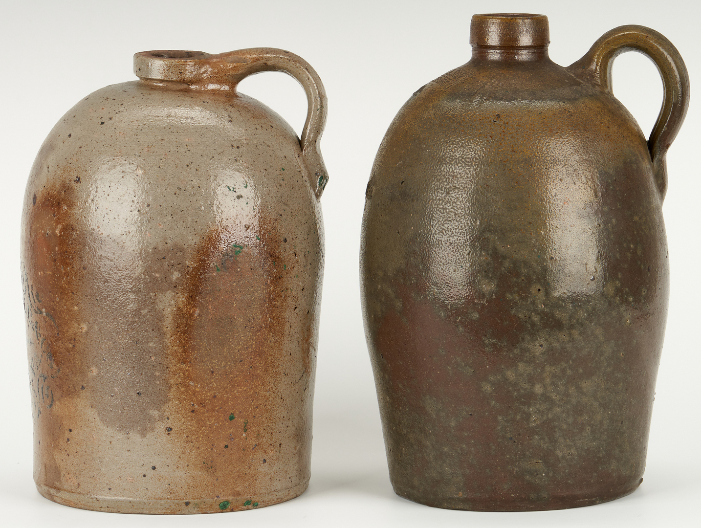 Lot 850: 4 Virginia Stoneware Pottery Items, incl. Whiskey
