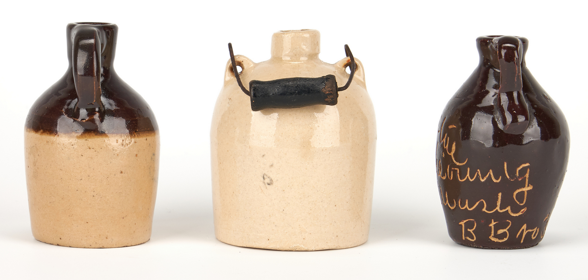Lot 852: 5 Miniature KY Advertising Whiskey Jugs & 1 other