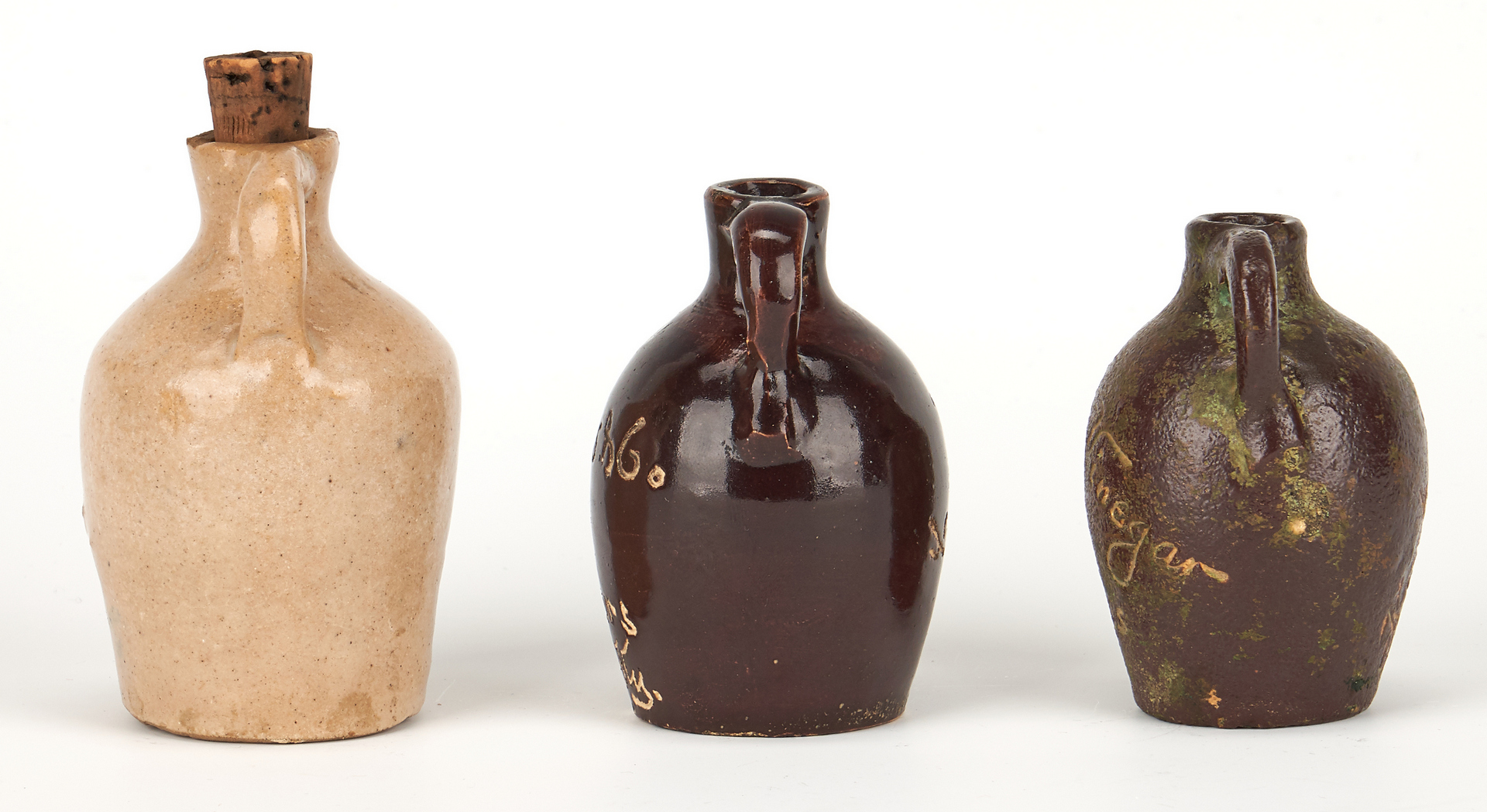 Lot 855: 6 Southern Pottery Advertising Items, incl. Miniatures