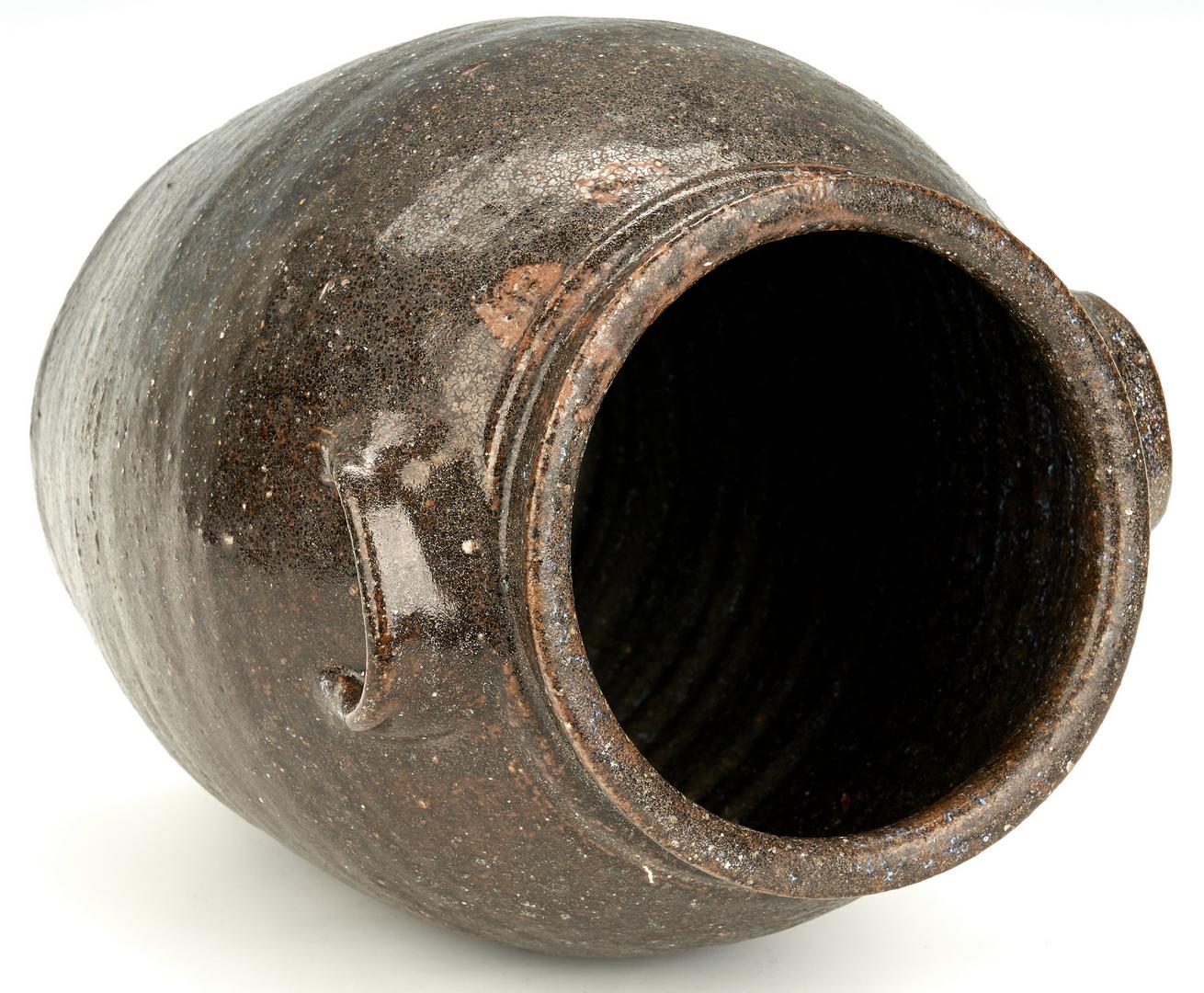 Lot 859: 3 NC Alkaline Glazed Pottery Jars