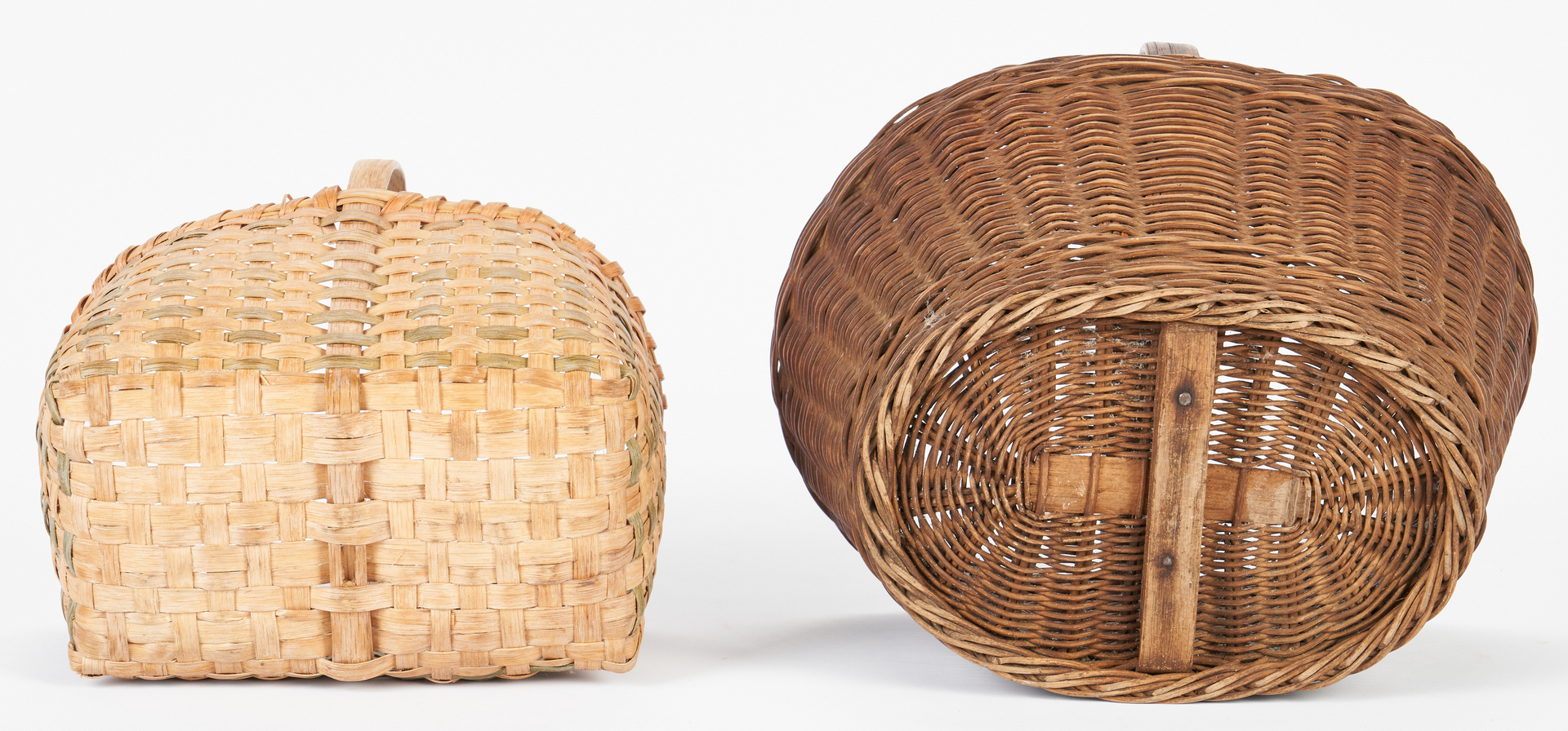 Lot 860: 6 Assorted Baskets, incl. Native American