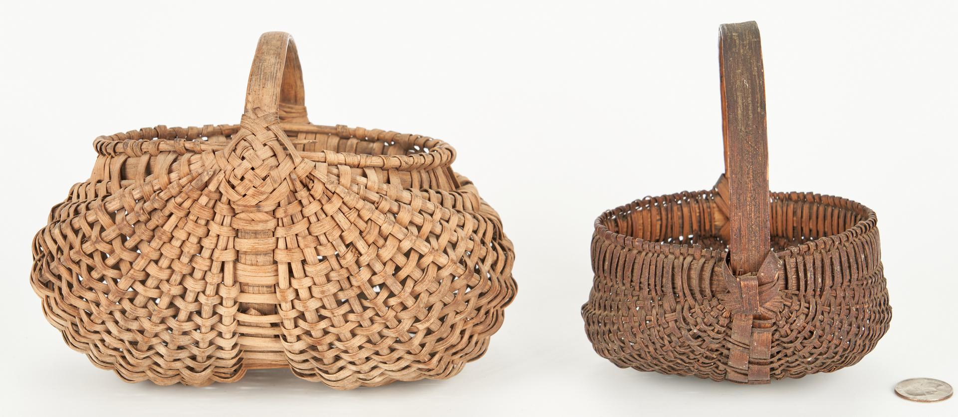 Lot 861: 6 Southern Split Oak Baskets, incl Miniatures
