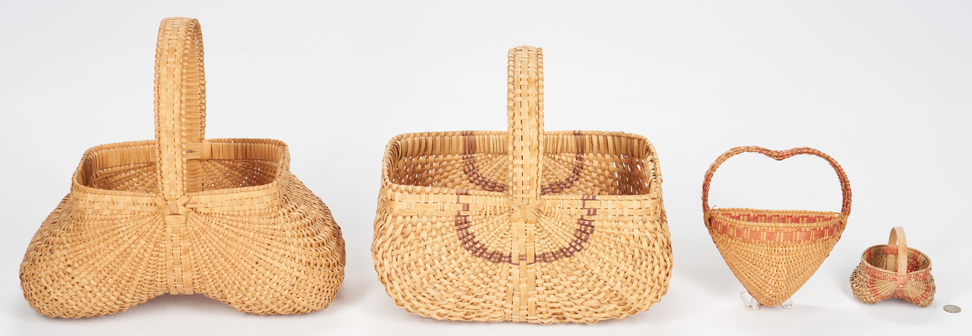 Lot 862: 4 Contemporary Southern Baskets, incl. Youngblood