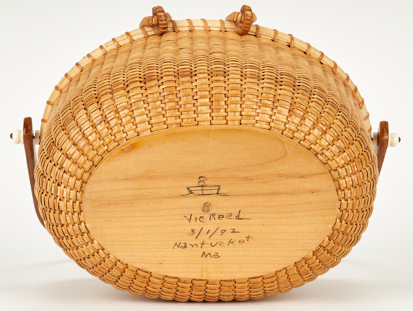 Lot 864: 5 Contemporary Signed Nantucket Baskets