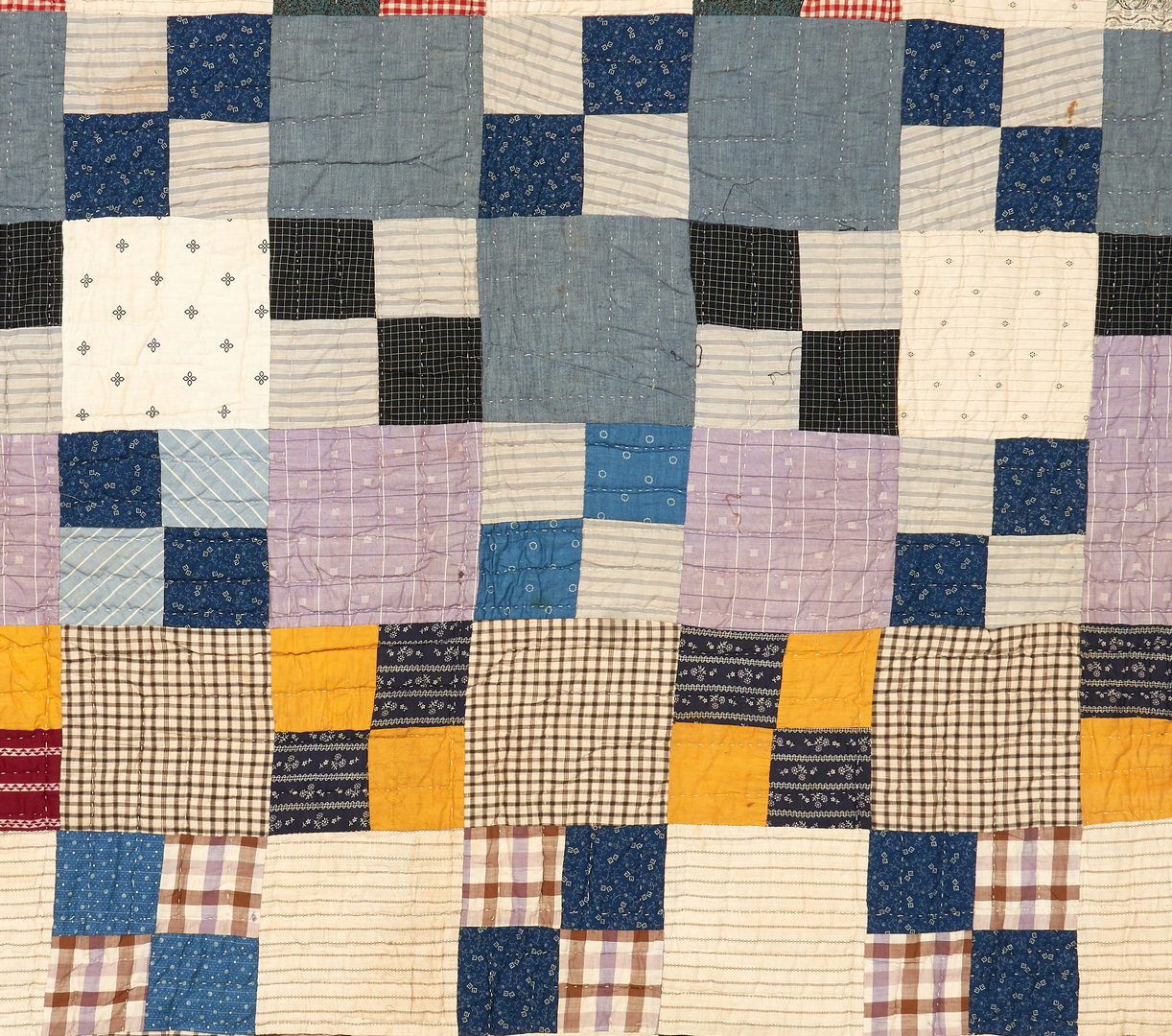 Lot 866: 3 Mississippi Pieced & Appliqued Quilts, signed