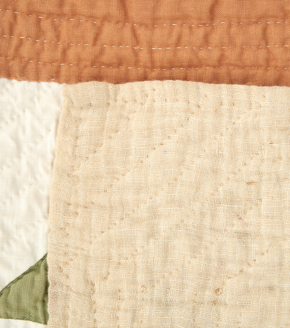 Lot 868: American Pieced Cotton Quilt, Pine Tree Pattern