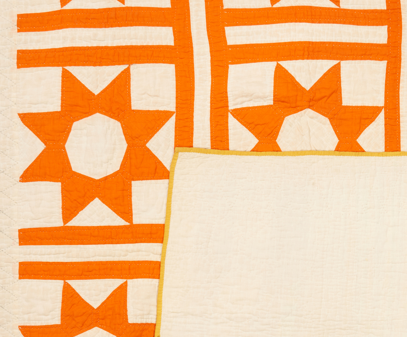 Lot 872: 2 American Quilts, LeMoyne Star & Dresden Plate Patterns