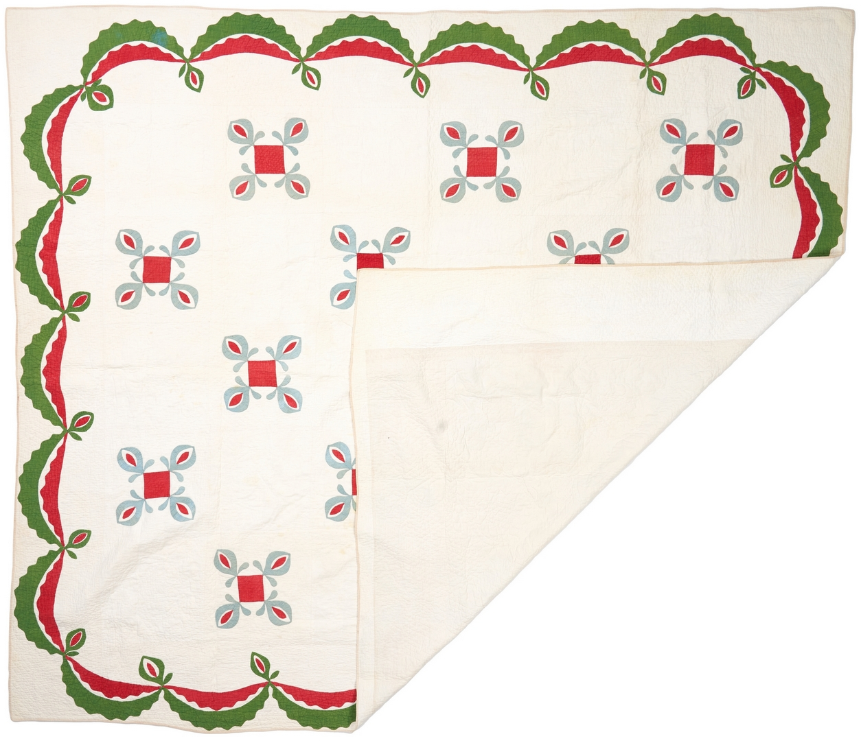 Lot 874: 3 Southern/East TN Pieced Cotton Quilts, incl. Whig Rose