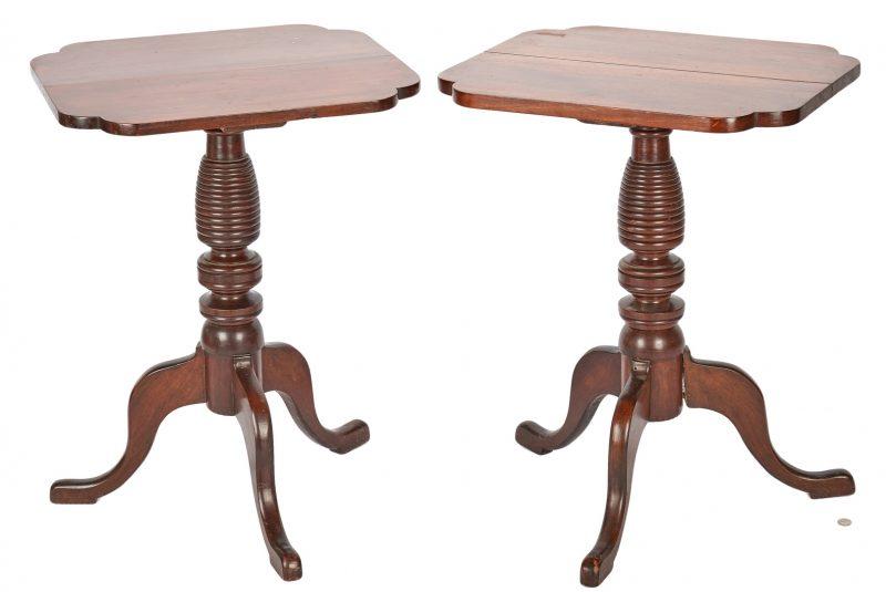 Lot 882: Pair of Candlestands, poss. Kentucky