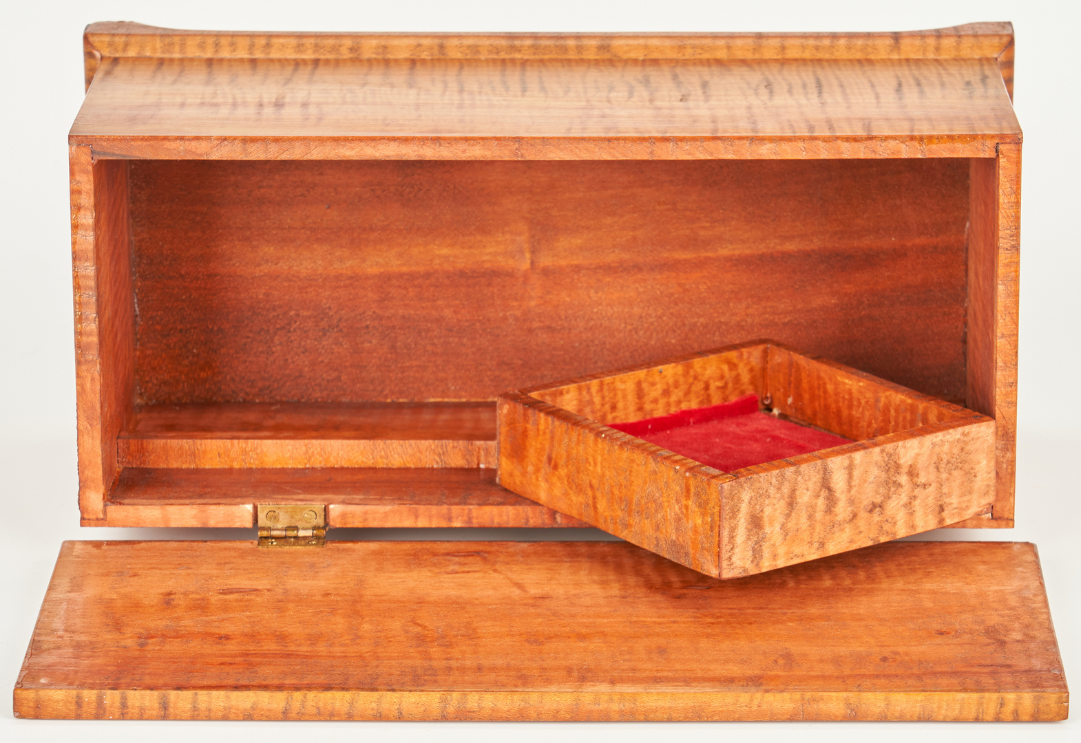 """Lot 884: 4 Tiger Maple Miniatures by Marion """"Mac"""" Spencer"""