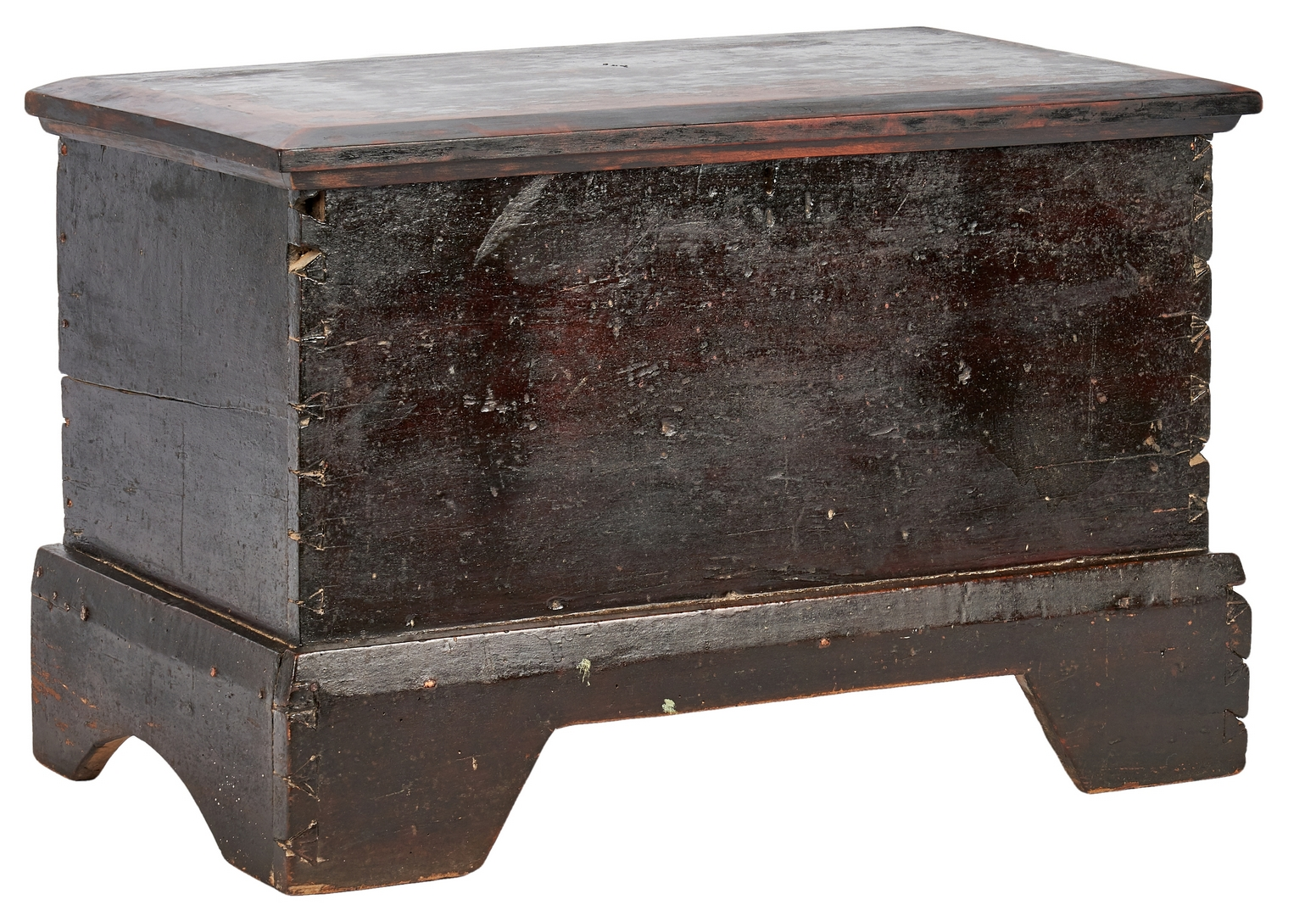 Lot 885: Middle TN Work Table or Stand & Miniature Blanket Box