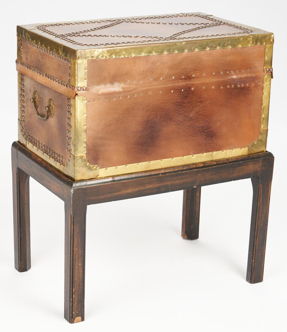 Lot 890: Brass Mounted Box on Custom Stand