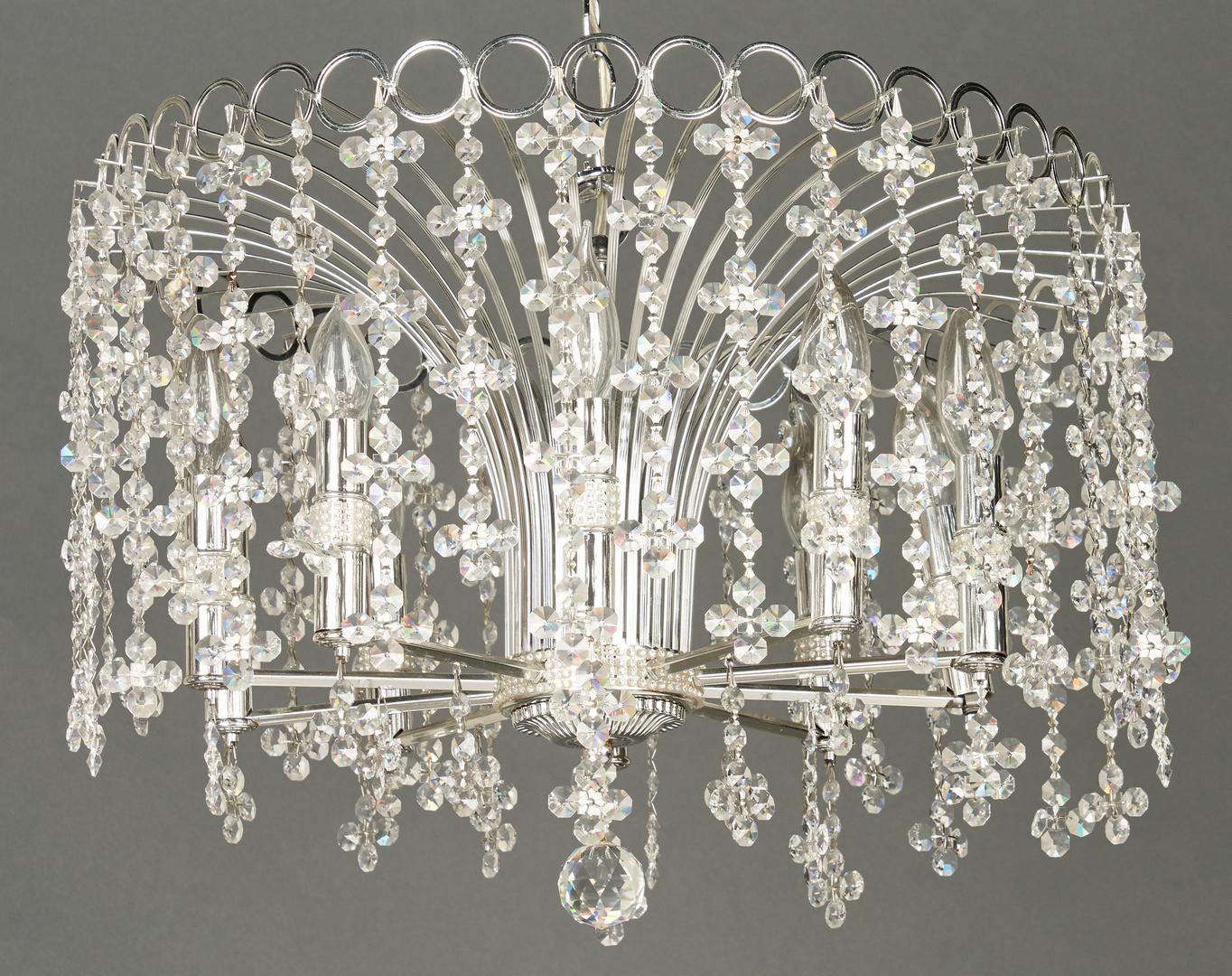 Lot 894: 2 Art Moderne Crystal Chandeliers