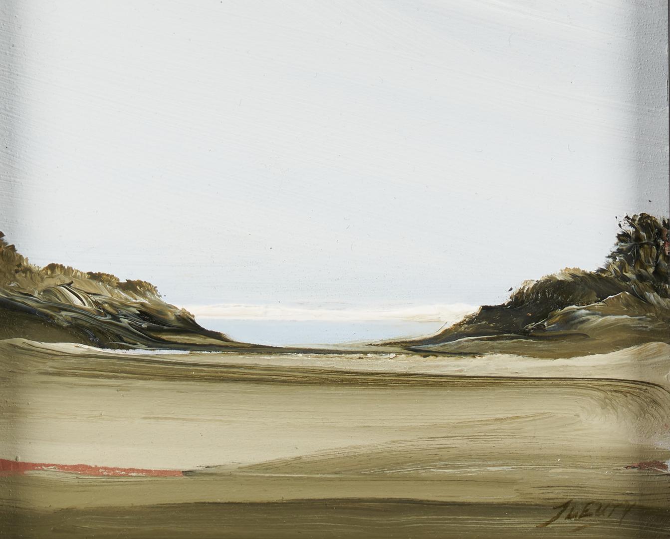 Lot 898: 2 small Rick Fleury Coastal Landscapes, MA