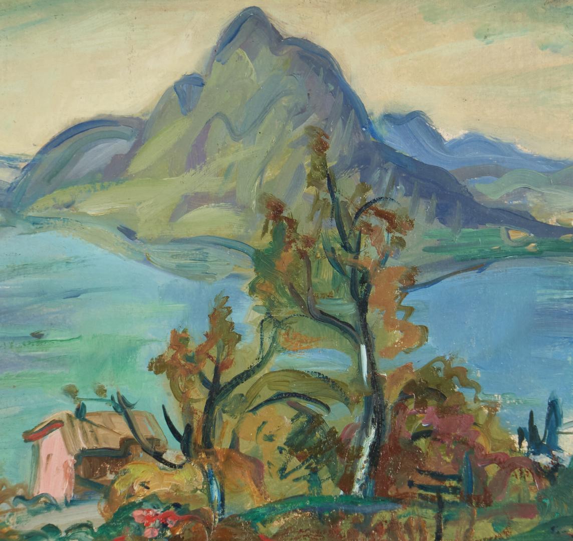 Lot 902: Fauvist Landscape, manner of Charles Camoin, plus Greg Carter giclee landscape