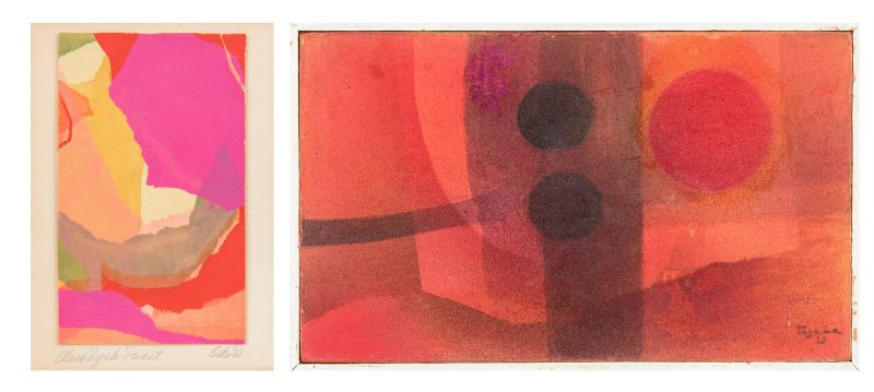 Lot 904: 2 Abstract Paintings, Okoshi and Tejada