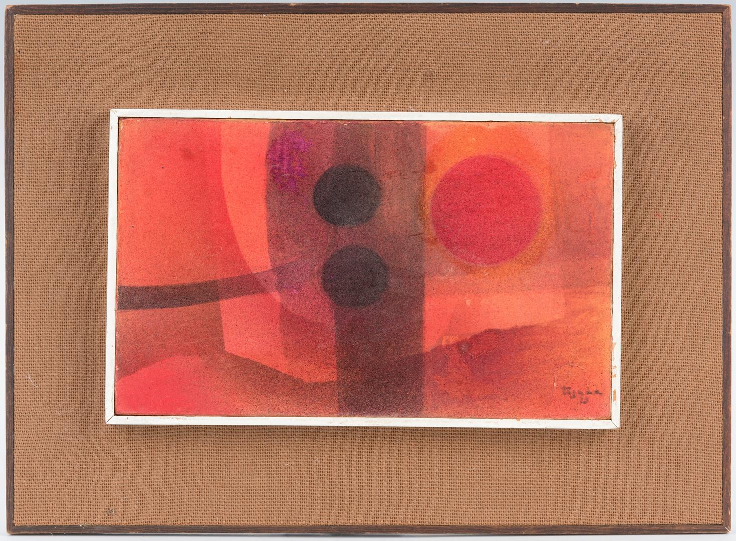 Lot 904: 2 Abstract Paintings, Okoshi and Tejada