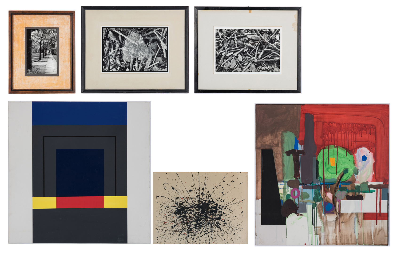 Lot 905: 6 John Stuart Ingle Artworks, incl. O/C Abstract Paintings