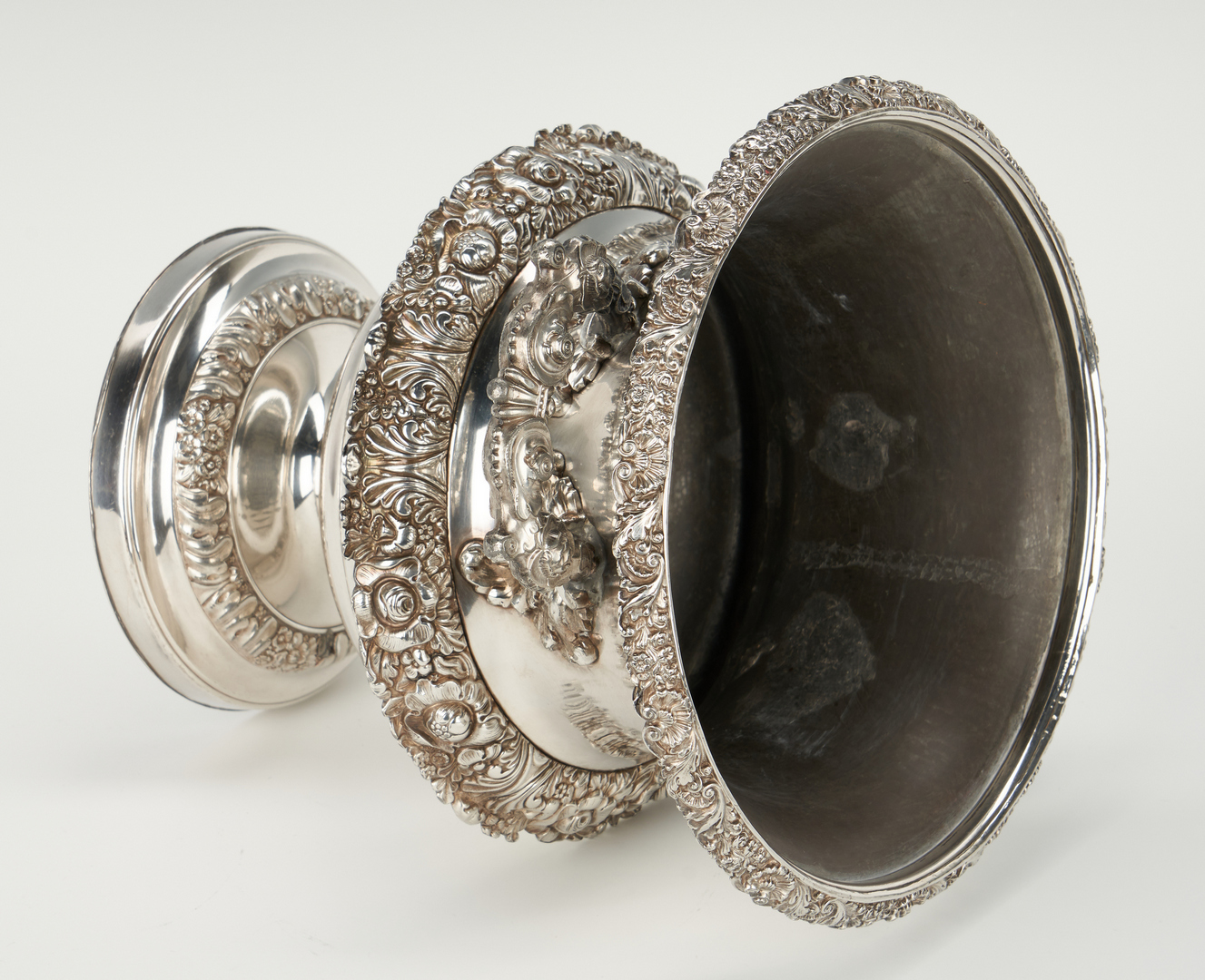 Lot 90: Silver Marrow Scoop and Old Sheffield Wine Cooler