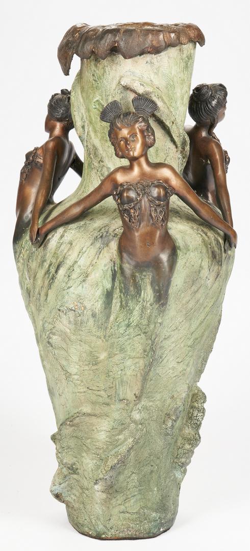 Lot 910:  Art Nouveau Bronze Vase, after Chalon