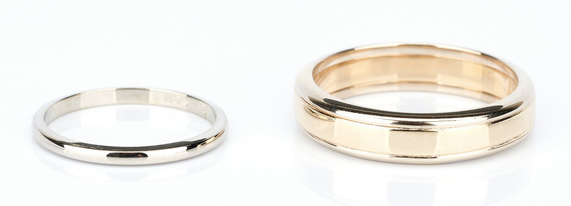 Lot 916: Three (3) 14K Wedding Bands