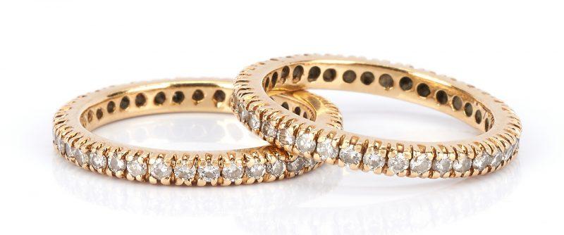 Lot 926: 2 18K Diamond Rings