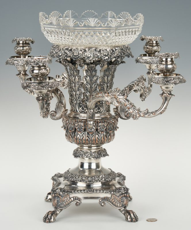 Lot 92: Victorian Sheffield Silverplate Epergne