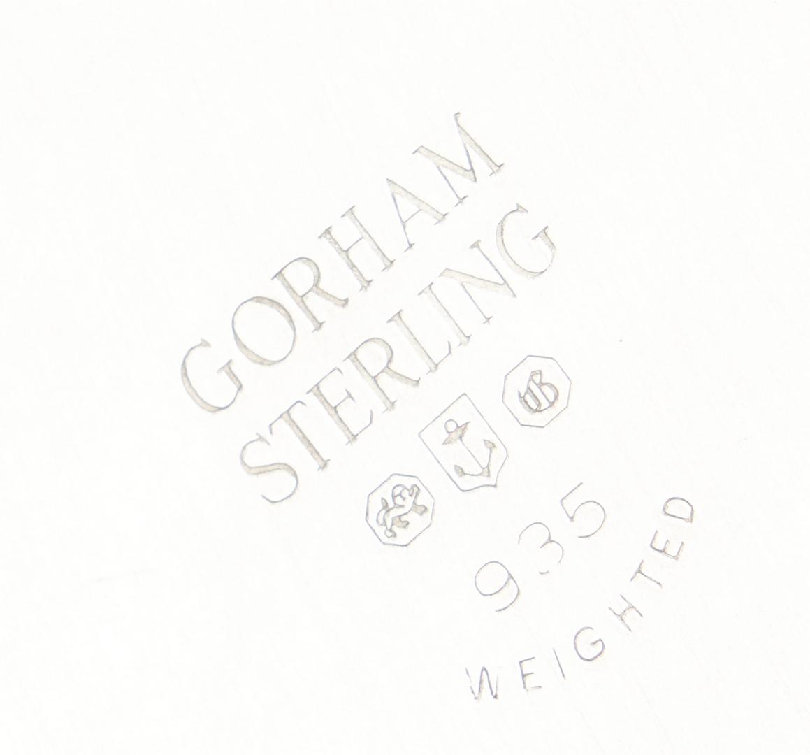 Lot 939: Pair Gorham Sterling Candelabra