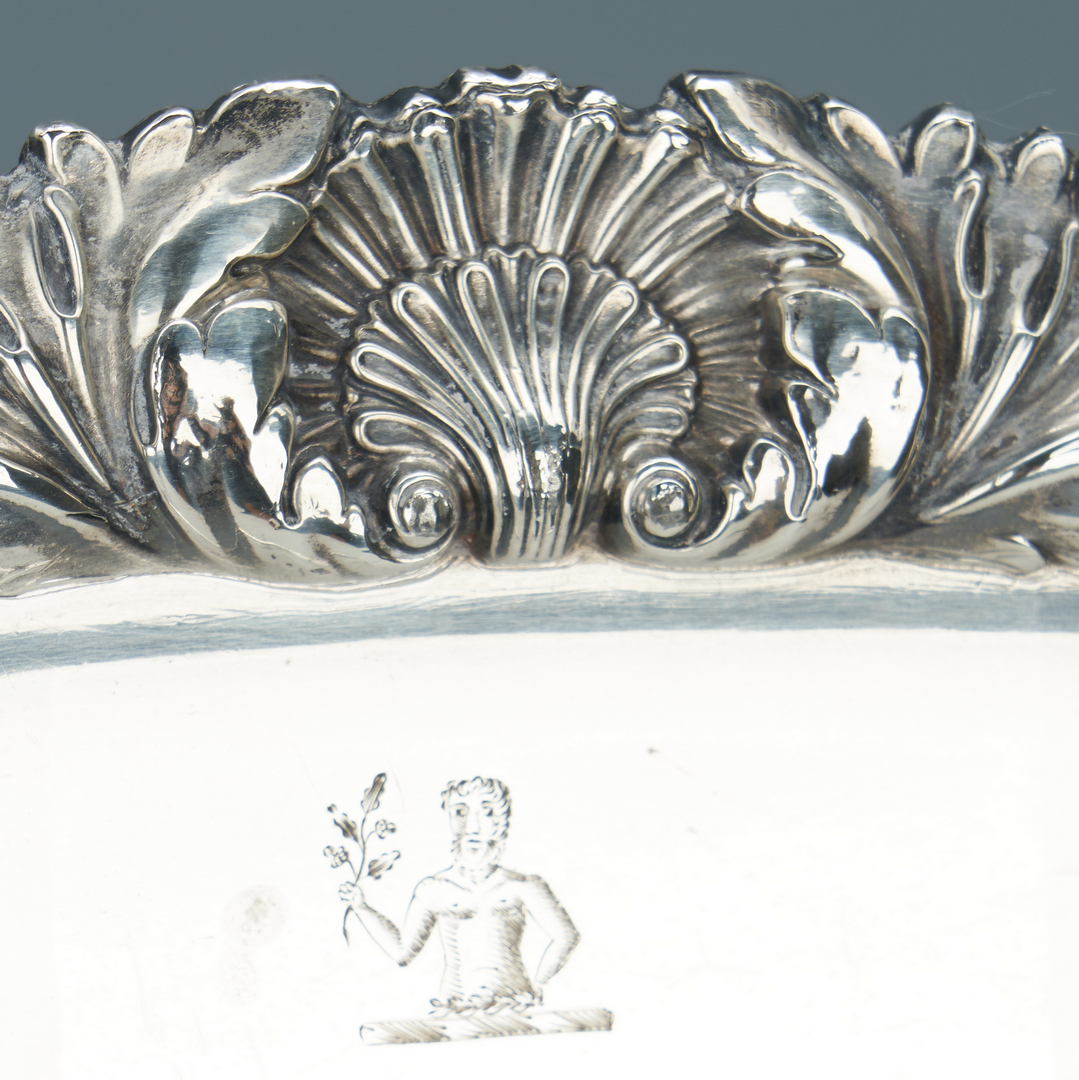 Lot 93: Old Sheffield Crested Meat Dome & Platter