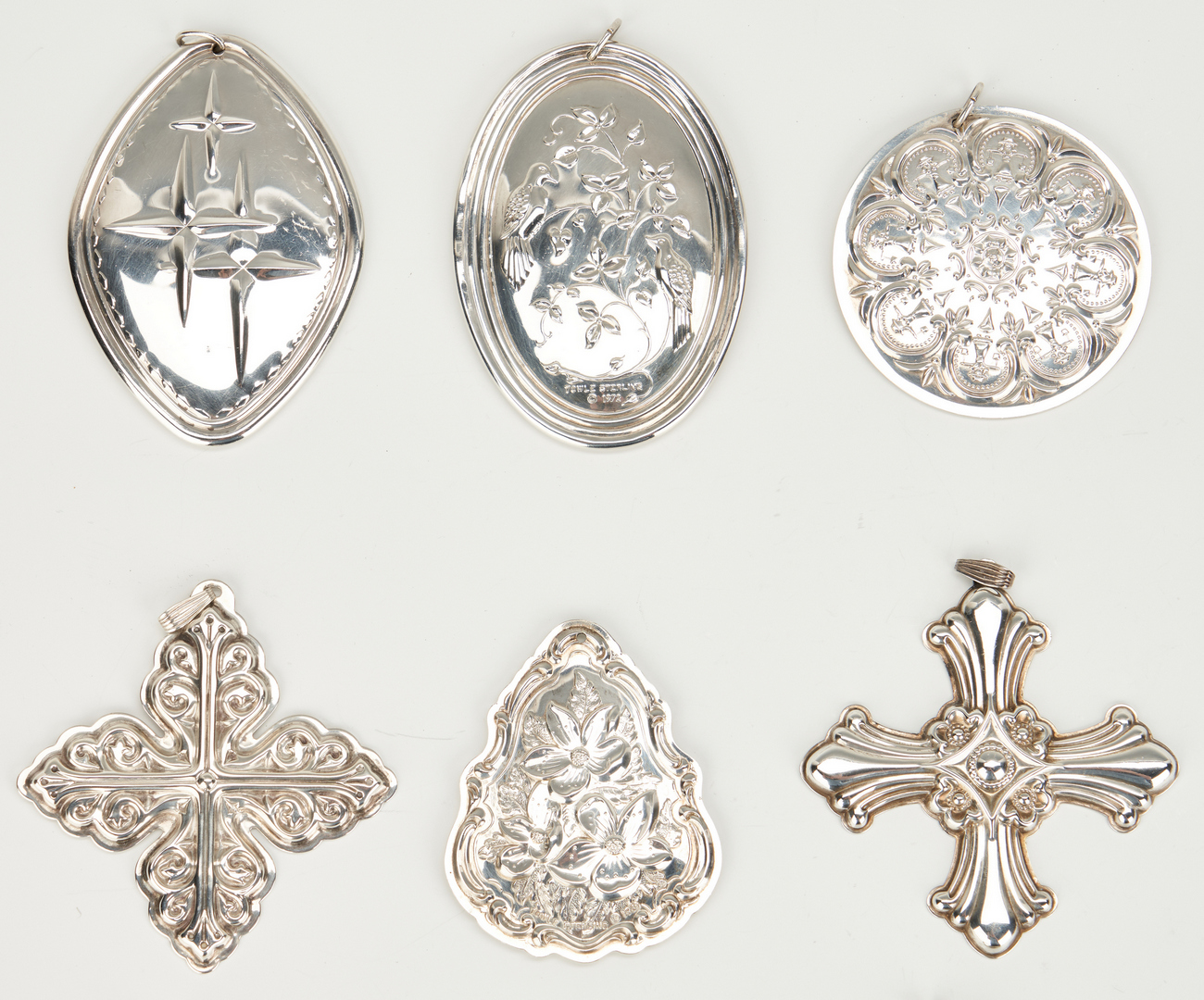 Lot 941: 30 Sterling Christmas Ornaments, Reed and Barton, Towle