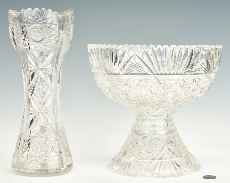 Lot 953: ABPCG Punch Bowl & Vase