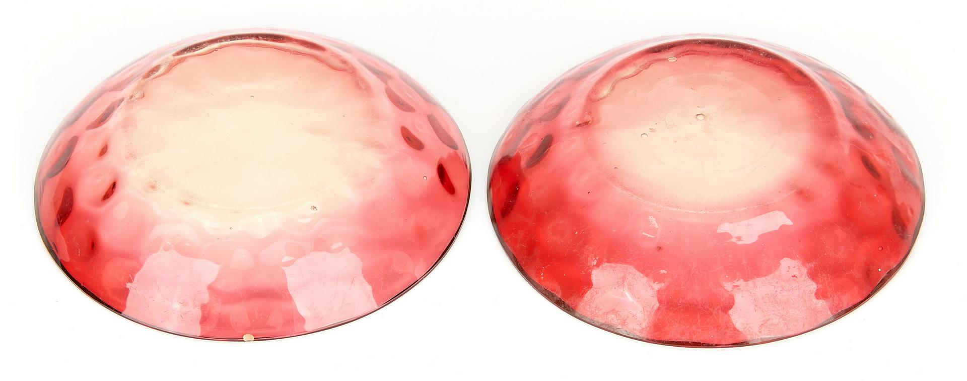 Lot 955: 12 Art Glass Items, Peachblow & Amberina