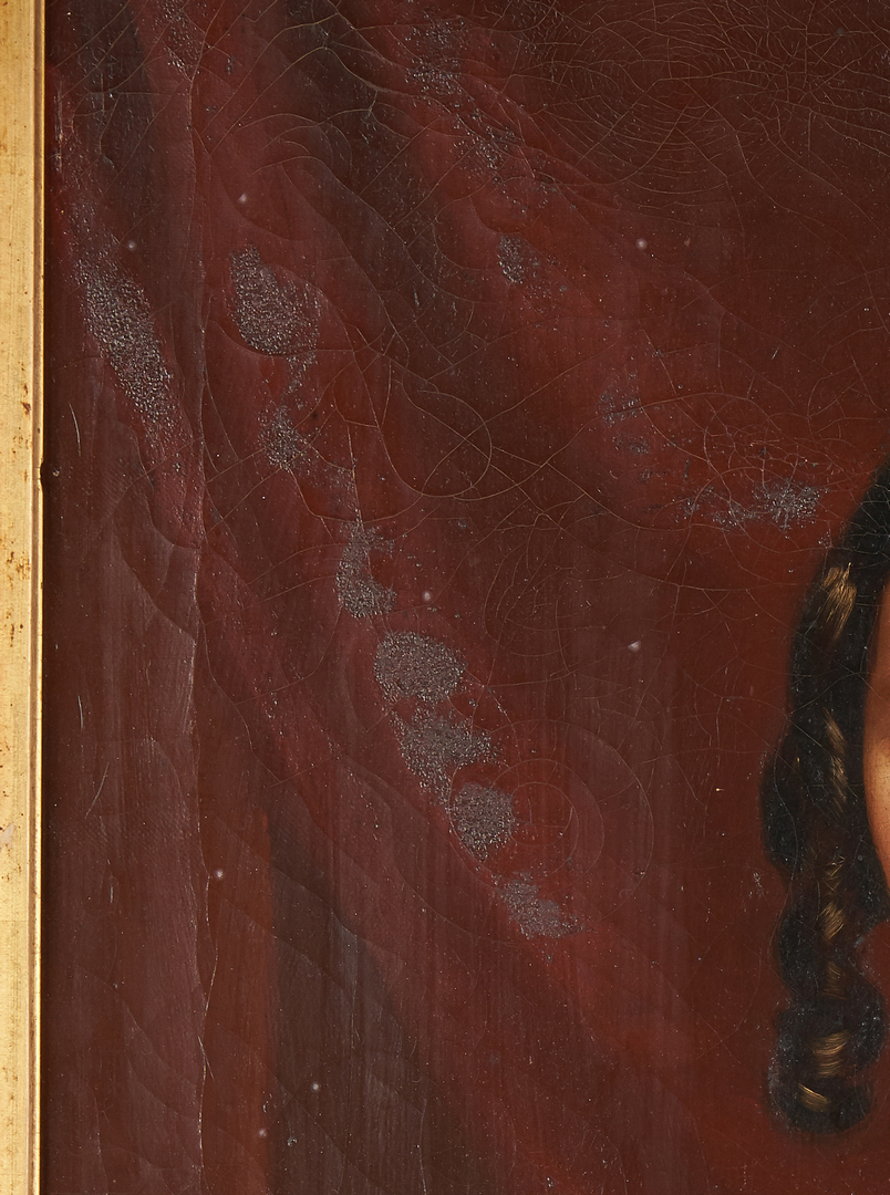 Lot 956: British School 19th Cent. O/C, Portrait of Woman